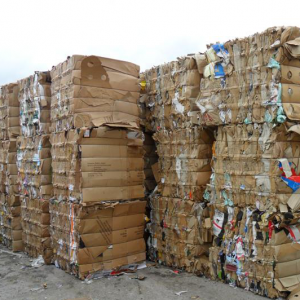 Recycled Cardboard Bales