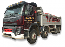 Tipper Lorry, Recycled Aggregates, Crushed Brick, Screened Soil